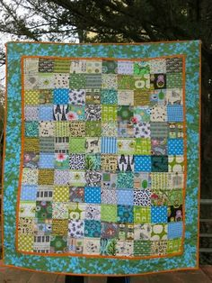 Baby quilt from 4 inch squares