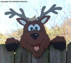 Reindeer Fence Topper, Christmas