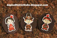 Alpine District Cub Scouts: Thanksgiving Pilgrim and Indian Neckerchief Slide