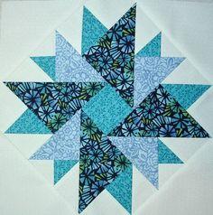 Double Aster quilt block