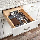 Charging Drawer by Rev-A-Shelf!- Charging Drawer by Rev-A-Shelf! 👉 Design Bunker Firenze for more of wha… Charging Drawer by Rev-A-Shelf! 👉 Design Bunker Firenze for more of what you love! Kitchen Drawers, Kitchen Pantry, Diy Kitchen, Kitchen Design, Kitchen Ideas, Kitchen Cabinets, Kitchen Wood, Smart Kitchen, Kitchen Sinks