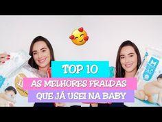 TOP 10 FRALDAS QUE JÁ USEI NA BABY   Minha Experiência - YouTube Bolo Youtube, Instagram, Top, Diapers, Crop Shirt, Shirts
