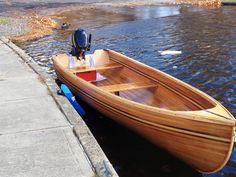 Hand built cedar strip wooden boat. by DrewLil on Etsy