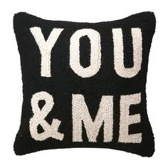 Found it at Wayfair - You & Me Square Hook Wool Throw Pillow