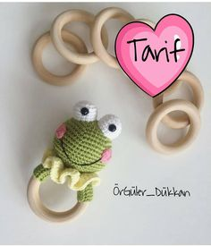 Baby crochet teethers and pacifiers – Artofit Crochet Frog, Crochet Baby Toys, Crochet Motifs, Crochet For Kids, Crochet Animals, Crochet Dolls, Knit Crochet, Baby Knitting Patterns, Easy Crochet Patterns