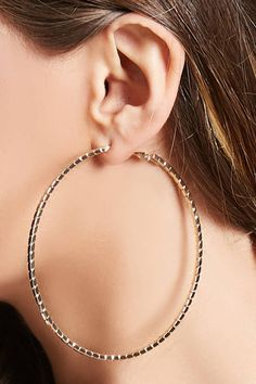 Product Name:Textured Hoop Earrings, Category:ACC, Fashion Earrings, Fashion Jewelry, Women Jewelry, Big Earrings, Hoop Earrings, Women Accessories, Fashion Accessories, Shop Forever, Forever 21