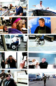 [gifset] Just when you thought you couldn't love this cast anymore..... SPN Mockumentary S9 gag reel