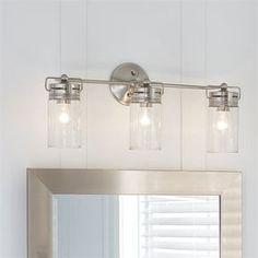 allen + roth 3-Light Vallymede Brushed Nickel Bathroom Vanity Light
