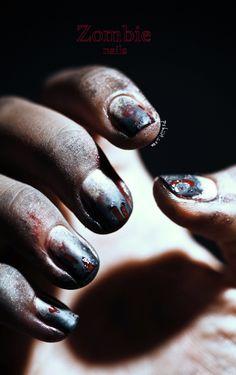 #zombie #nails for #halloween   pshiiit