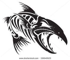 Fish skeleton - stock vector