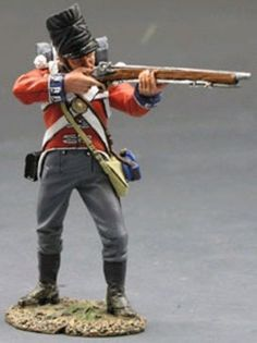 Napoleonic British Army NA128 Coldstream Guard Standing Firing Rifle - Made by King and Country Military Miniatures and Models. Factory made, hand assembled, painted and boxed in a padded decorative box. Excellent gift for the enthusiast.