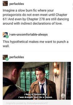 Supernatural Wallpaper, Supernatural Tv Show, Fandoms Tumblr, Destiel Fanart, Dean And Cas, Comic, Slow Burn, Cockles, Great Love Stories