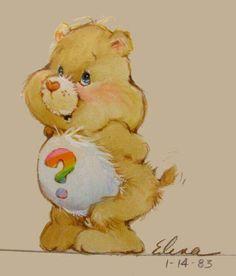 Vintage Cartoon, Vintage Toys, Care Bears Vintage, Care Bears Plush, Bear Coloring Pages, Drawing Hair, Tatty Teddy, Pretty Art, Teddy Bears
