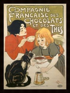 French chocolate poster for French Company of Chocolate and Tea