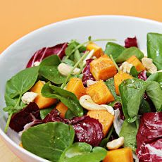 Watercress and Radicchio Salad with Persimmons and Spicy Lime Vinaigrette