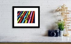Striped girl Framed Print by Iulia Paun