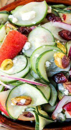 Pistachio-Pear Cucumber Salad