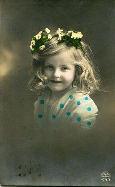 Vintage French Girl No N043 Vintage French Handtinted Photo Postcard 1900s | eBay