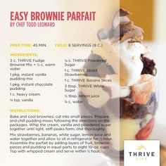 easy brownie parfait
