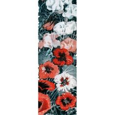Marmont Hill Flowers Veg 2 inch Painting Print on Canvas, Size: 15 inch x 45 inch, Multicolor