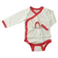 Baby Soy Illustrated O Soy Organic Kimono Bodysuit, 12-18 Months, Penguin « Clothing Impulse