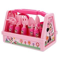 NEW New Disney Minnie Mouse 9 Piece Gardening Set Pink Plastic -- Awesome products selected by Anna Churchill My Little Girl, My Baby Girl, Toddler Toys, Kids Toys, Minnie Mouse Toys, Sand Toys, Disney Toys, Disney Disney, Disney Junior
