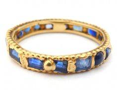 Polly Wales - ANTIQUE CUT BLUE SAPPHIRE RAPUNZEL RING http://www.pollywales.com