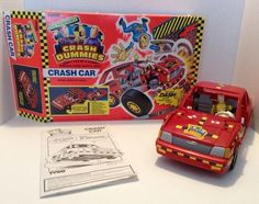 Rare Unique EUC Tyco Incredible Crash Dummies Car vehicle red Dash figure 1991  | eBay