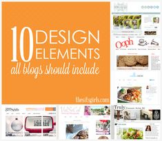 10 design elements you need on your blog!
