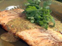 Devon...this is spectacular recipe. Don't change any of the ingredients. I know...it has mint and horseradish in it but trust me you won't notice! Grilled Salmon Fillet with Honey-Mustard Sauce. Num num!