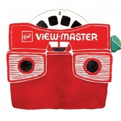 Retro viewmaster illustration by Karen Kurycki. My Childhood Memories, Childhood Toys, Tennessee Williams, Retro, Nostalgia, View Master, Image Master, Back In My Day, I Remember When