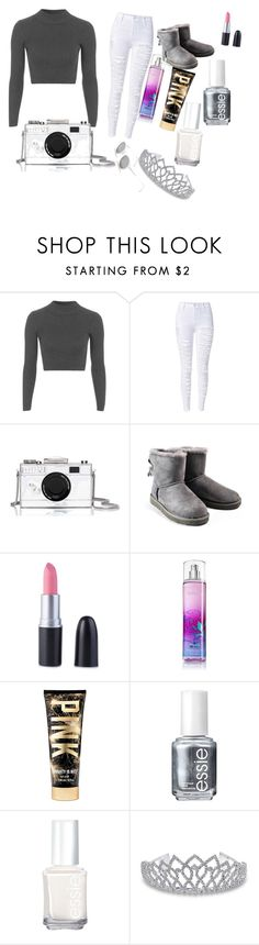 """""""outfit for summer time"""" by candicewilliams002 ❤ liked on Polyvore featuring Topshop, Kate Spade, UGG Australia, Essie, Bling Jewelry, RetroSuperFuture, women's clothing, women's fashion, women and female"""