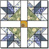 fancy flowers free quilt block pattern