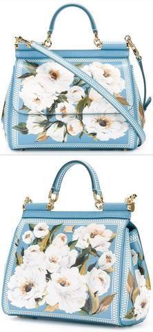9922e70096 Miss Sicily  Floral Majolica Tile Print Satchel Bag