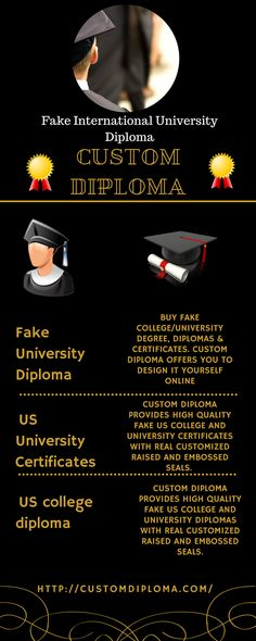 Do not have International high school diploma? No need to go high - copy university diploma templates