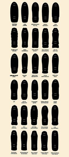 // #skateboard shapes. Kinda want this framed on our wall at home.