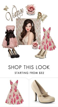 """""""Vintage Beauty For Spring"""" by apacheprincess ❤ liked on Polyvore featuring Pinup Couture, Charlotte Olympia and vintage"""
