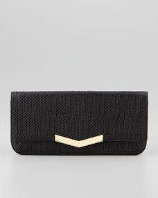 Times Arrow Gya Embossed Clutch Bag, Black
