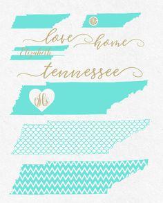 Tennessee Svg Bundle Fonts svg monogram frames by HighQualitySVG