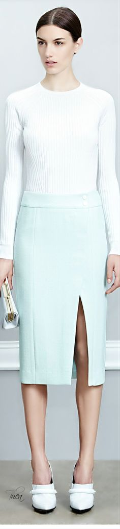 Jason Wu ● Resort 2015 The color, the length, the sexy slit, <3 everything about the skirt.
