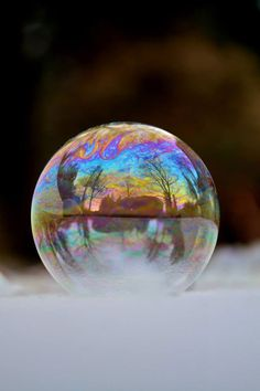 Mother and Son Blow Bubbles in Freezing Cold and Discover Something Beautiful...Amazing