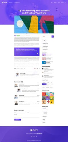Wavee is an elegant, creative and modern portfolio theme for individuals and agencies alike. It is built upon some very attractive, bold, creative, modern and unique design. The User Experience is robust and the User Interface will blow you and your customers away.