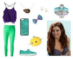 """""""Modern Day Ariel"""" by we-are-walt-disney ❤ liked on Polyvore featuring Disney, CellPowerCases, Vans, Closed, modern, disney, ariel and 2015"""