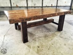 A new custom Frederick style farmhouse dining table we built for a new West Fargo home. The table top is built from reclaimed hem/fir that was salvaged from a home in Fargo and the legs are reclaimed cedar 6x6's that were salvaged from a home in St. Cloud. #reclaim #repurpose #reuse #reclaimedwood