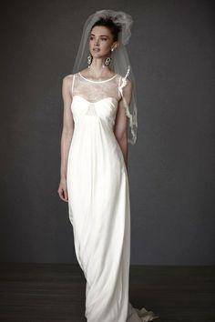 Robe de Mariée en soie marque BHLDN T36 d'occasion