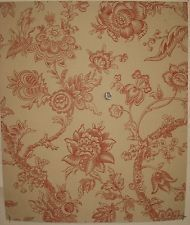 french+floral+wallpaper | Beautiful Antique 19th C. French Exotic Floral Toile Wallpaper (8913)