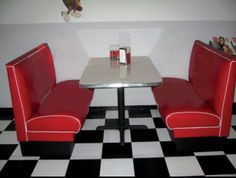 Retro Diner Booth Set - NEW 50's Style Custom Built - For Restaurant or Home