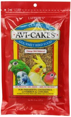 Lafebers AviCakes for Cockatiels  Parakeets  Lovebirds and Conures 8 oz ** Find out more about the great product at the image link. (Note:Amazon affiliate link)