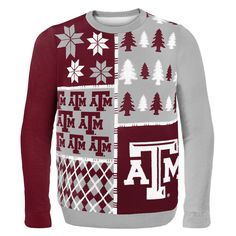 Texas A&M Aggies Busy Block Style Ugly Sweater