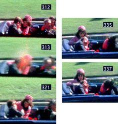 Horrific replay, frame by frame: Frame of the Zapruder home movie shows the fatal bullet exploding inside the president's brain. American Presidents, Us Presidents, American History, Los Kennedy, John F Kennedy, Kennedy Assassination, John Junior, John Fitzgerald, Sad Day